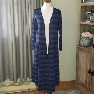 Navy blue striped Sarah duster